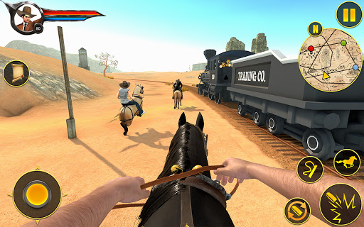Cowboy Horse Riding Simulation apktram screenshots 3