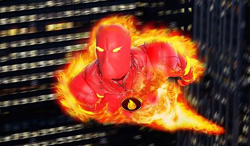 Flying Fire Hero Robot Transform: Robot Games  Screenshots 9