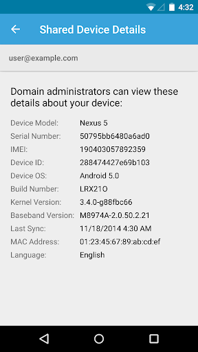 Foto do Google Apps Device Policy