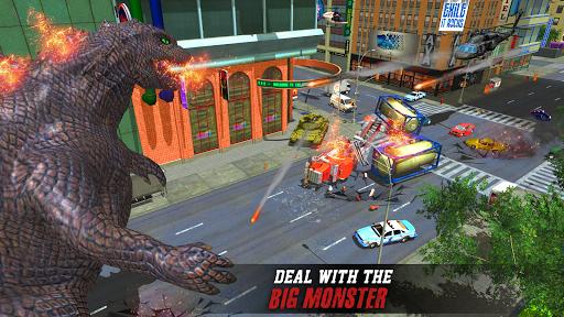 Godzilla & Kong 2021: Angry Monster Fighting Games 3 screenshots 6