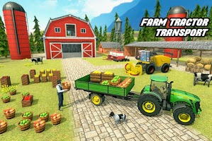 Offroad Farm Tractor Transport: Farming Games 2021