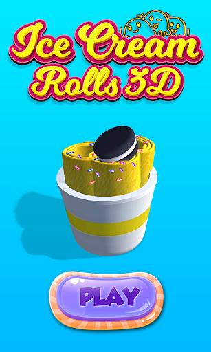Ice Cream Rolls 3D Game Stir-Fried Frozen Desserts 1.2 screenshots 1
