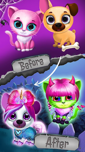 Kiki & Fifi Halloween Salon - Scary Pet Makeover  Screenshots 4