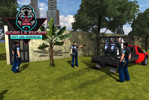 Gorilla Escape City Jail Survival screenshots 3