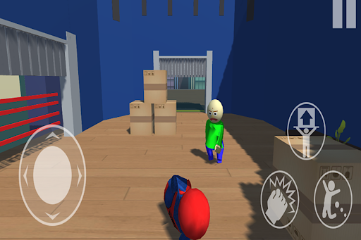 Spider vs Baldi Fall Neighbor Flat  Screenshots 4