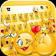 Love Emoji Party Keyboard Theme