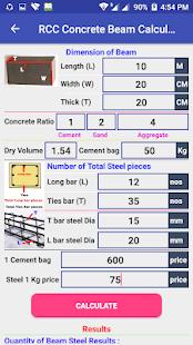 RCC Concrete Beam Calculator
