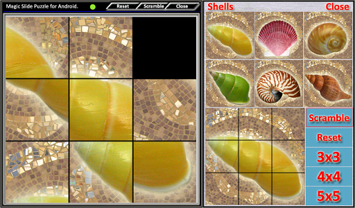 magic slide puzzle shells screenshot 1