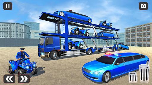 USA Police Car Transporter Games: Airplane Games apktram screenshots 3