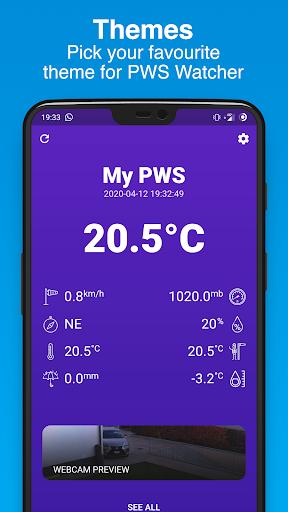 PWS Watcher u26c5ufe0f Personal Weather Station Monitoring 1.10.11 Screenshots 6