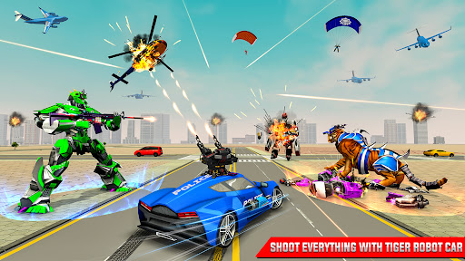 US Police Tiger Robot Car Game screenshots 14