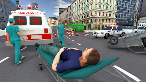 Télécharger Gratuit Ambulance Simulator Docteur en conduite automobile APK MOD (Astuce) screenshots 1