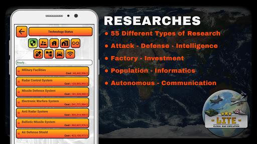 global war simulation lite - strategy war game screenshot 3