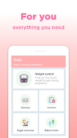 screenshot of Pregnancy Tracker: Calendar with Contraction Timer