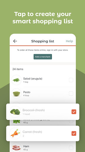 JOW: personalized recipes & groceries android2mod screenshots 5