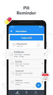 Health – BMI Check, First Aid Guide, Pill Reminder 3