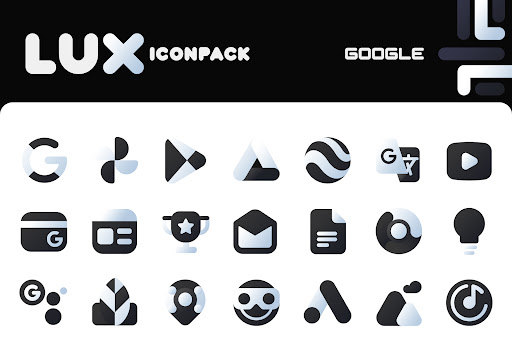LuX Black Icon Pack