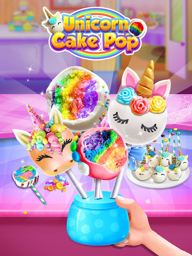 Unicorn Cake Pop Maker - Sweet Fashion Desserts 1.3 screenshots 1