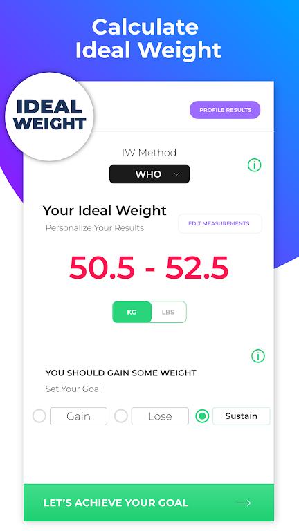 BMI Calculator: Body Fat Percentage & Ideal Weight  poster 5