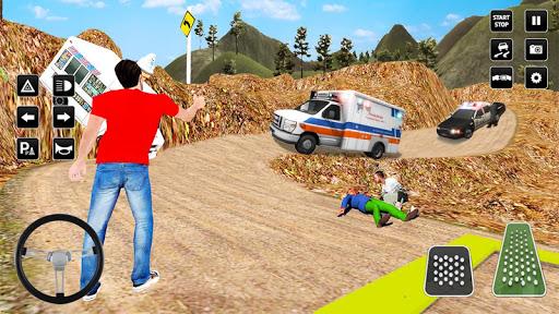 Heli Ambulance Simulator 2020: 3D Flying car games  screenshots 4