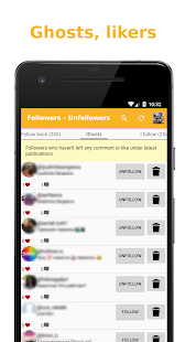 Followers - Unfollowers Screenshot