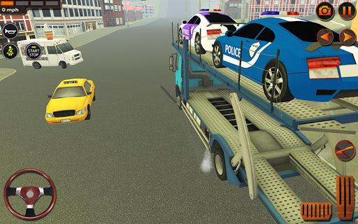 Police Car Transporter Simulator: Truck Driving 3d apkpoly screenshots 4