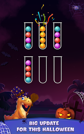 Color Ball Sort Puzzle - Dino Bubble Sorting Game  screenshots 12