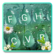 Summer Rain Waterdrop Keyboard Theme