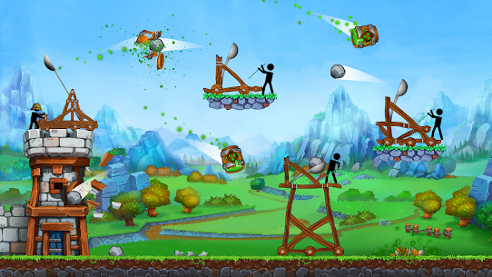 The Catapult — King of Mining Epic Stickman Castle 2