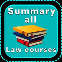 Summarize Law Course