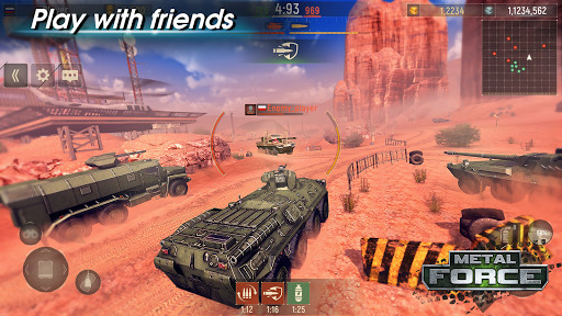 Metal Force: PvP Battle Cars and Tank Games Online  screenshots 15