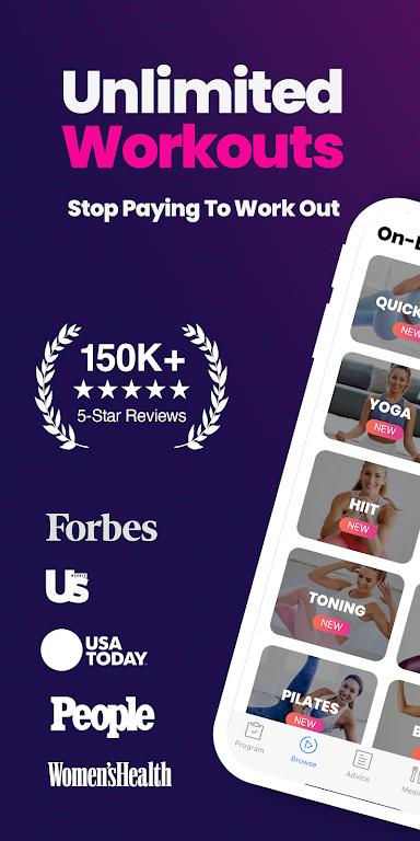 FitOn - Free Fitness Workouts & Personalized Plans poster 0
