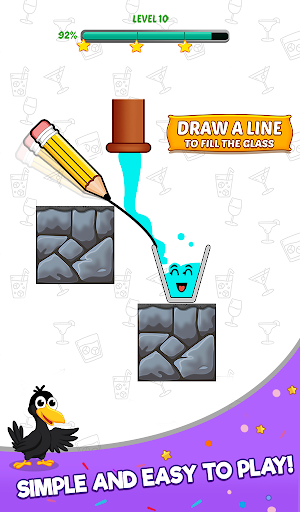 Happy Crow - Fill the Glass by Draw Lines 3.5.1 screenshots 9