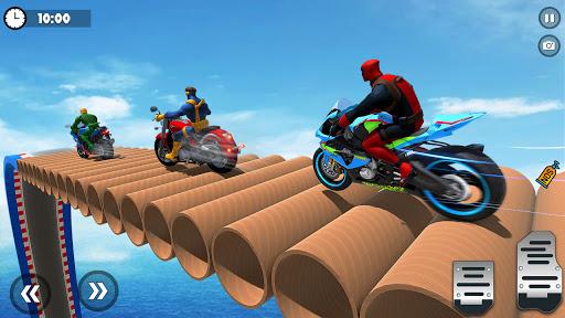 Superhero Tricky bike race (kids games) android2mod screenshots 10
