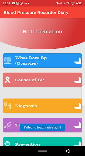 Blood pressure Tracker & bp diary 1.10 Screenshots 5
