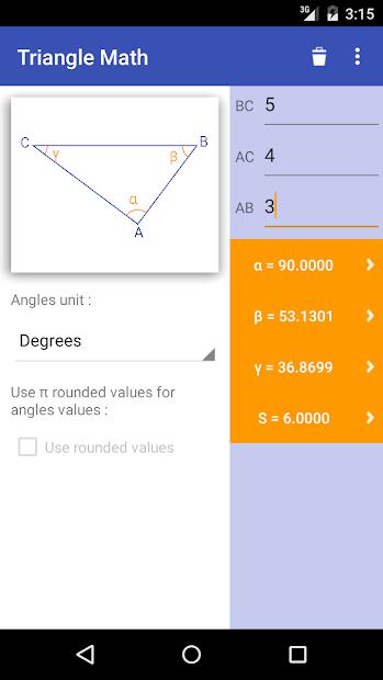 Captura 3 de Triangle Math - Trigonometry para android