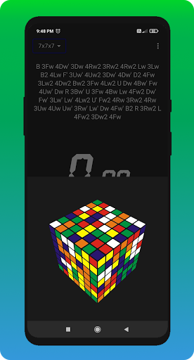 Cube Cipher - Rubik's Cube Solver and Timer  screenshots 8