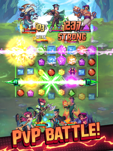 Puzzle Brawl - Match 3 RPG & PvP Battle Tactics apkpoly screenshots 7