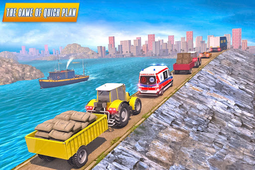 Drive Tractor trolley Offroad Cargo- Free 3D Games apkslow screenshots 11