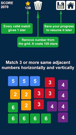 Télécharger glisser et fusionner des nombres: jeu de nombres APK MOD 2