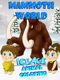 Mammoth World -Ice Age Animals Coloring