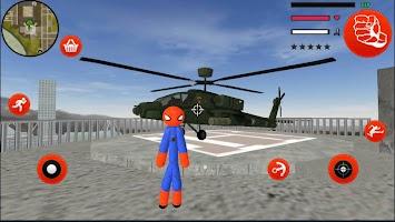 Stickman Spider Rope Hero Gangstar vegas Crime