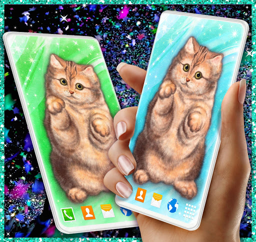 Cute Cat Live Wallpaper u2764ufe0f Fluffy Kitty Wallpapers modavailable screenshots 2