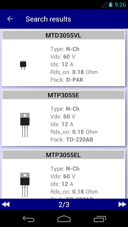 Electronics Database: params of electronics parts  poster 3