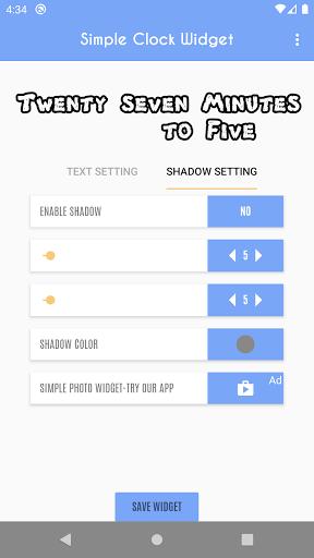 Simple Clock Widget - Word Clock  screenshots 21