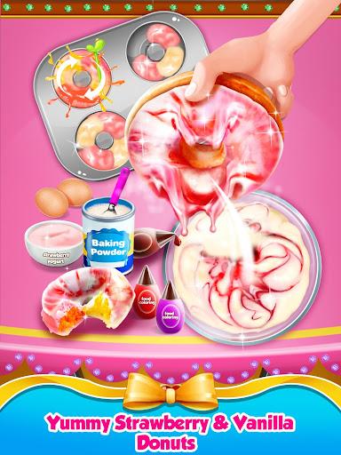 Rainbow Princess Bakery - Make Cupcake & Donut 1.4 screenshots 10
