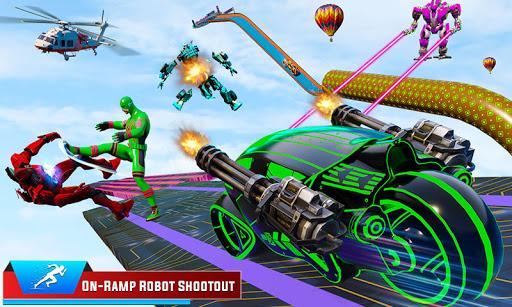 Speed Hero Robot Ramp Bike Transform Robot Games 1.7 screenshots 1