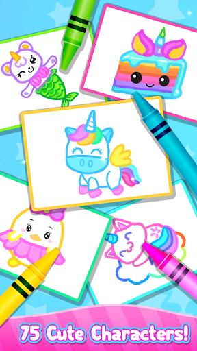 Rainbow Glitter Drawing Book - Coloring Classes  screenshots 7