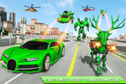 Deer Robot Car Game – Robot Transforming Games screenshots 1