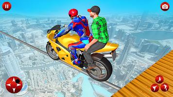 Passenger Bike Taxi Simulator: Superhero Games